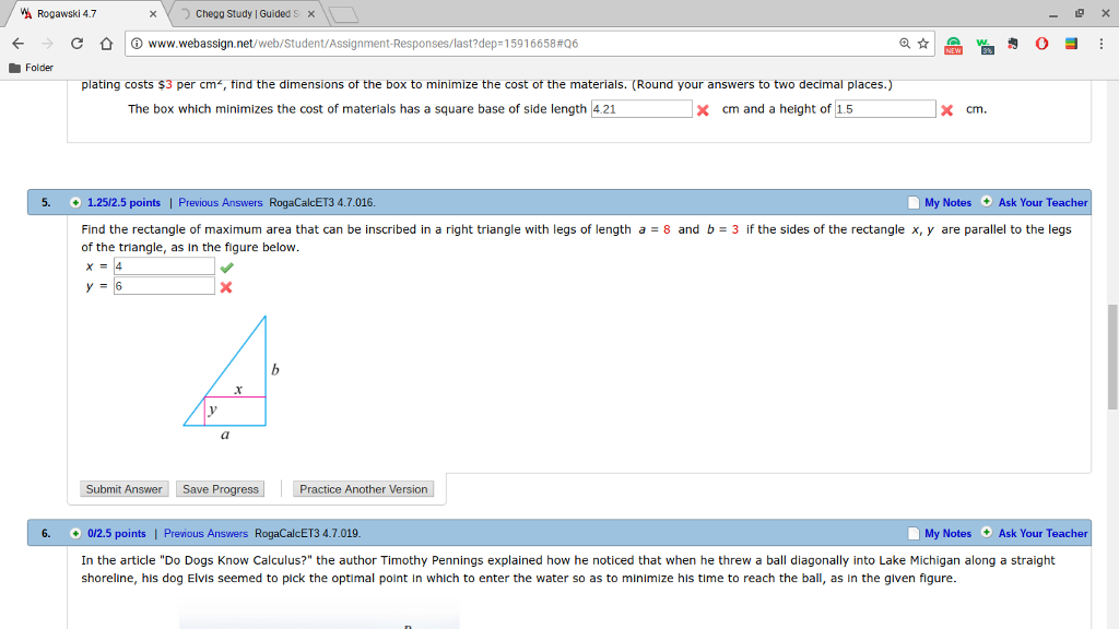 Webassign answers calculus