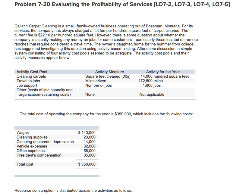 Solved: Problem 7-20 Evaluating The Profitability Of Servi ...