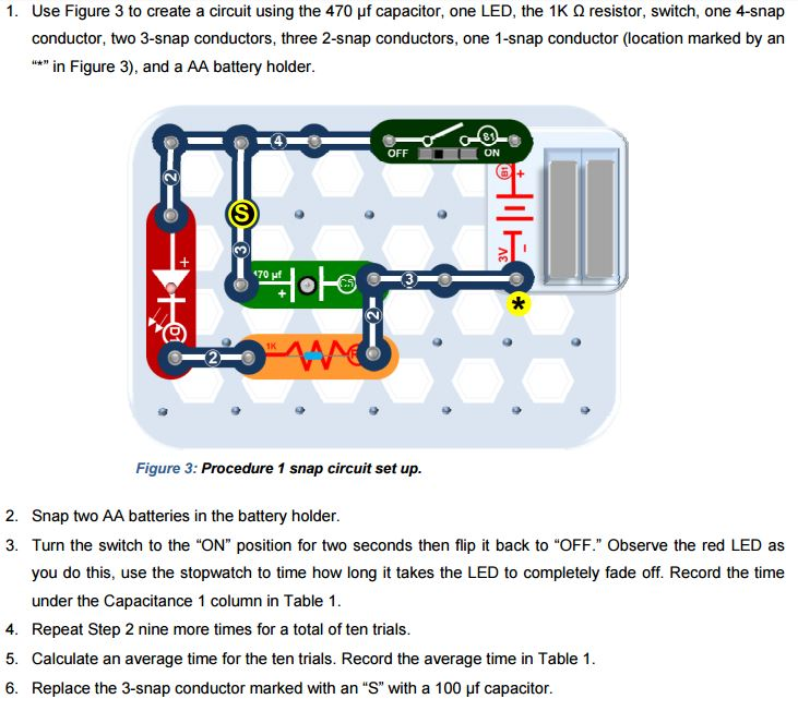 Solved: 1. Use Figure 3 To Create A Circuit Using The 470 ...