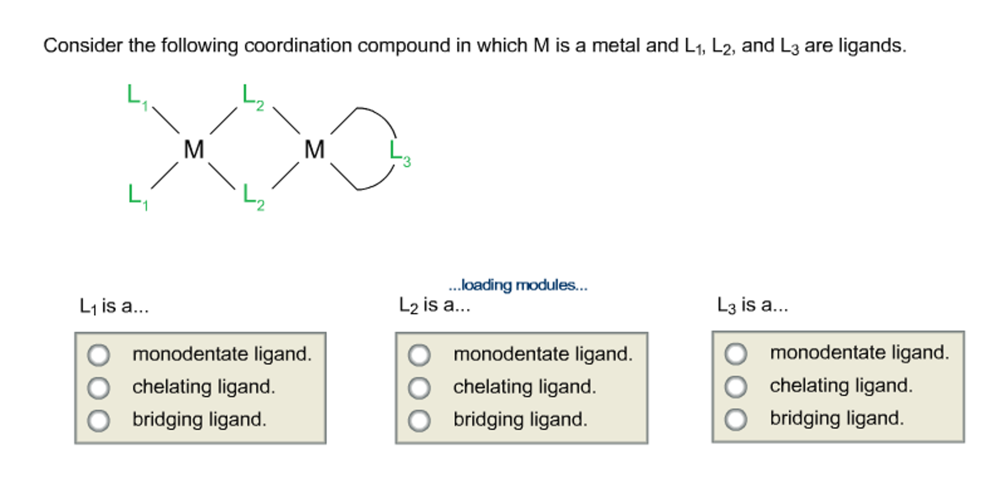 Solved: Consider The Following Coordination Compound In Wh ...