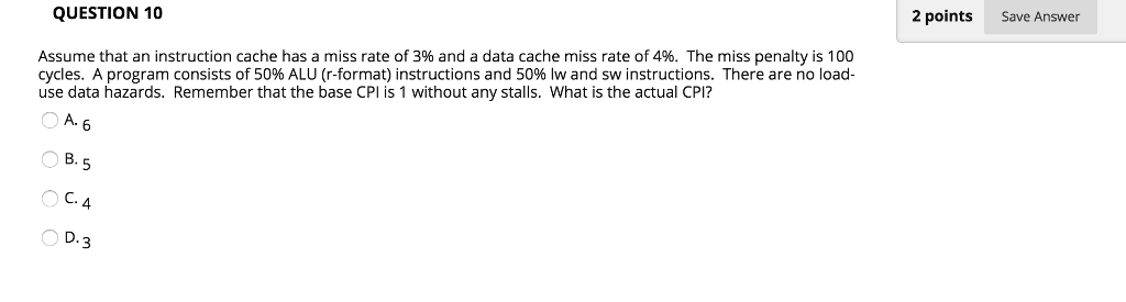 Solved Assume That An Instruction Cache Has A Miss Rate O