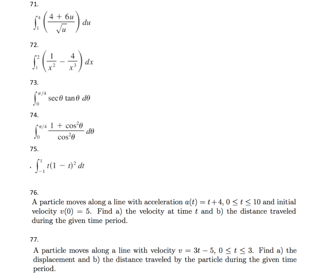 Solved: 15 Definite Integral And Fundamental Theorem Of Ca