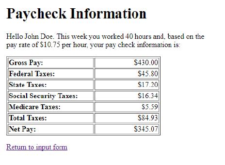 paycheck calculatro