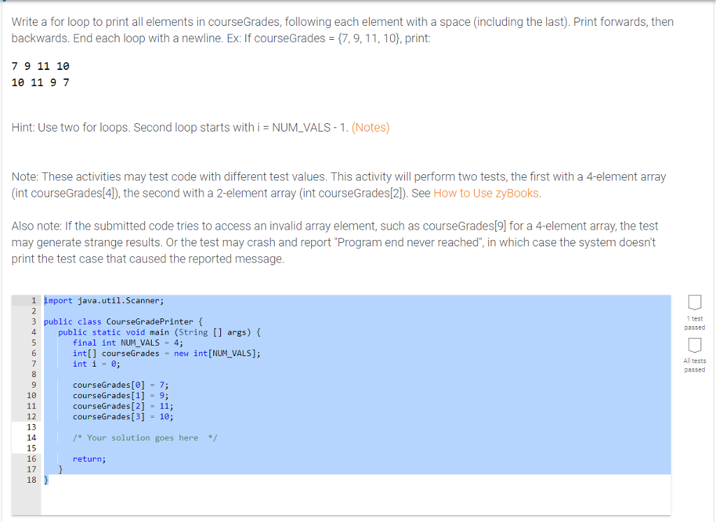 Write a for loop that fills an array with whitespace thesis on online shopping in pakistan
