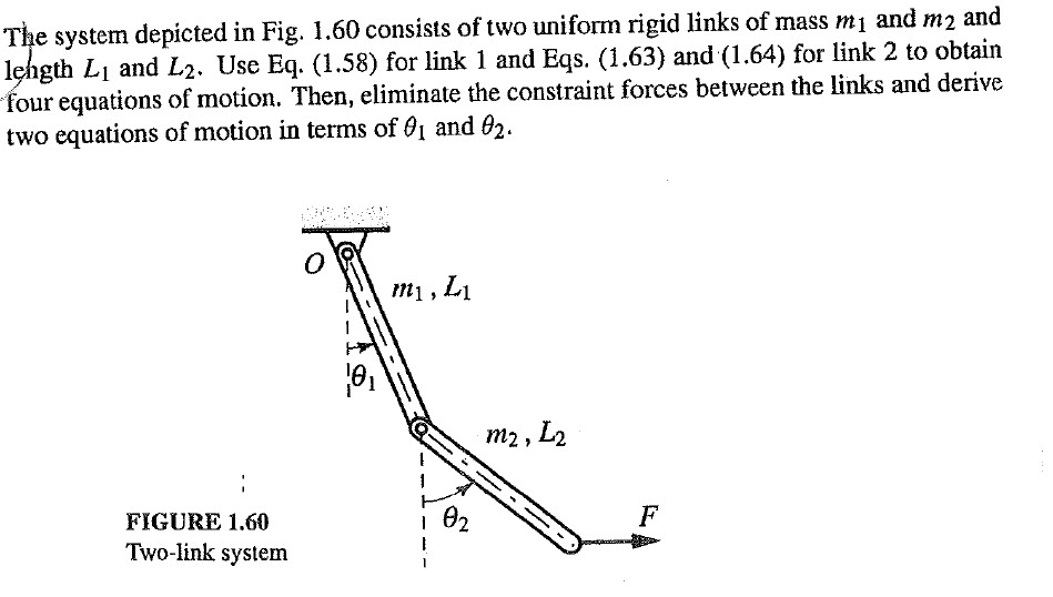 Solved: The System Depicted In Fig  1 60 Consists Of Two U
