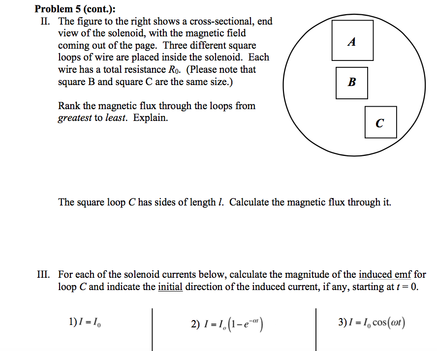 Solved problem 5 20 points a long solenoid with nturns show transcribed image text problem 5 20 points a long solenoid with nturns a total length l and a circular cross section with radius r carries a greentooth Images