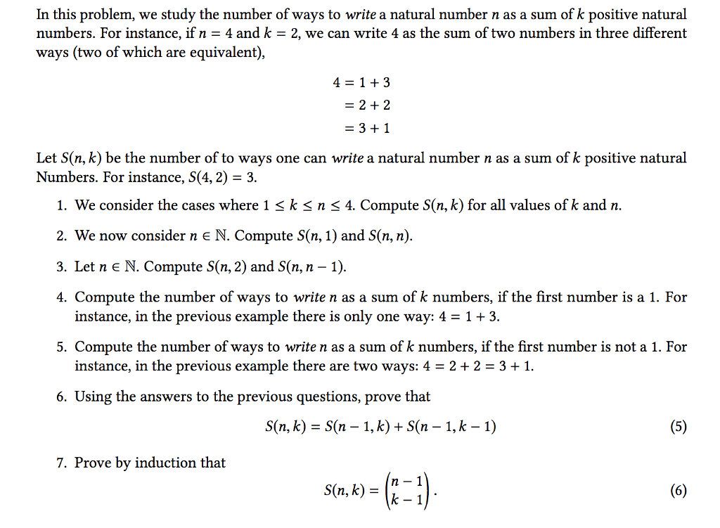 Solved In This Problem We Study The Number Of Ways To Wr