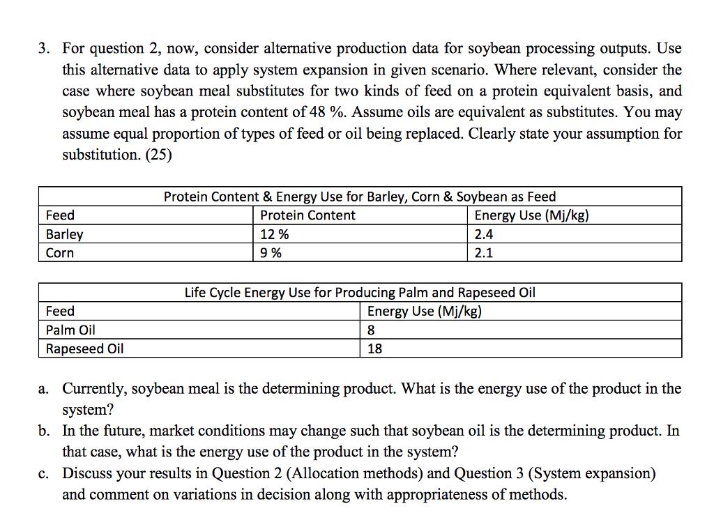 3  For Question 2, Now, Consider Alternative Produ      Chegg com
