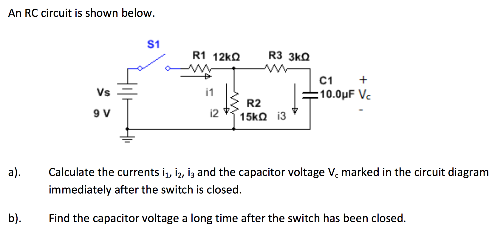 Solved an rc circuit is shown below calculate the curren an rc circuit is shown below calculate the curre ccuart Images