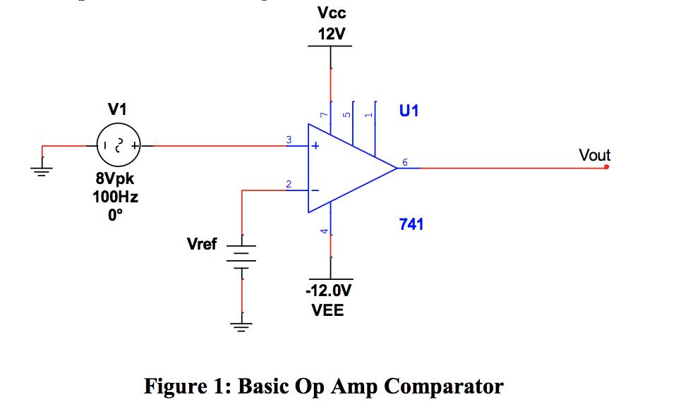 solved 1 what is the purpose of vref? 2 discuss the effvcc 12v v1 vout 6 8vpk 100hz 0° 741 vref 12 0v vee figure