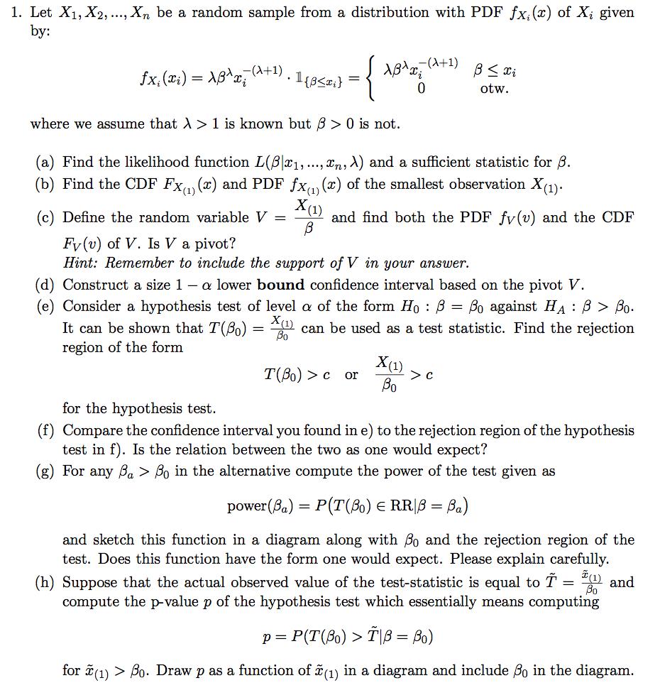 Solved: Let X_1, X_2,    , X_n Be A Random Sample From A D