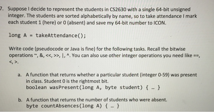 Solved: Suppose I Decide To Represent The Students In CS26