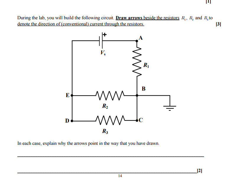 solved in each case explain why the arrows point in the rh chegg com Variable Resistor Symbol Circuit Diagram Speakers