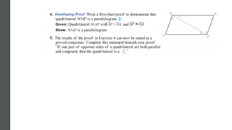 Solved 4 Developing Proof Write A Flowchart Proof To Dem