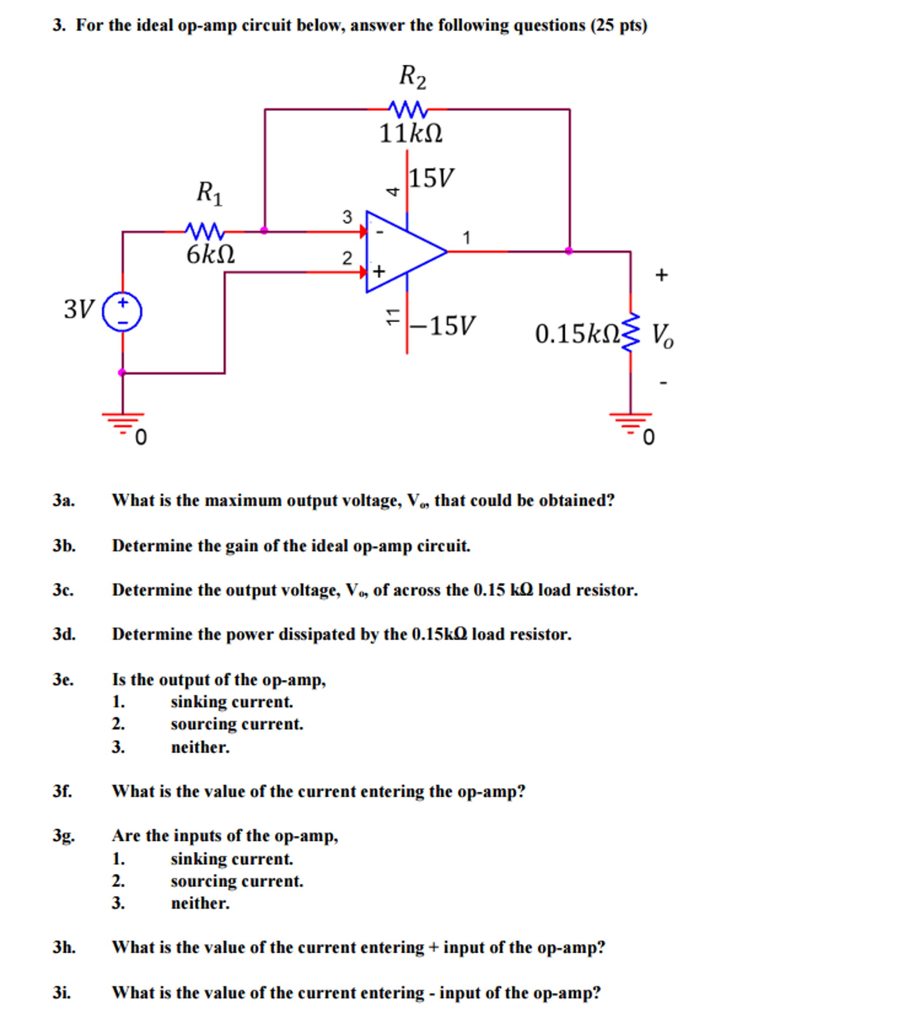 Solved For The Ideal Op Amp Circuit Below Answer Fol Output Resistors In Parallel Opamps Amplifier