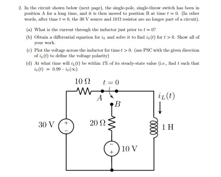 Solved: 2. In The Circuit Shown Below (next Page), The Sin ...