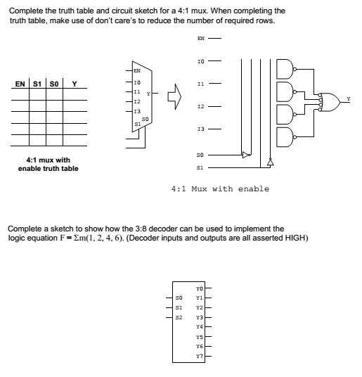 Solved: Complete The Truth Table And Circuit Sketch For A ...