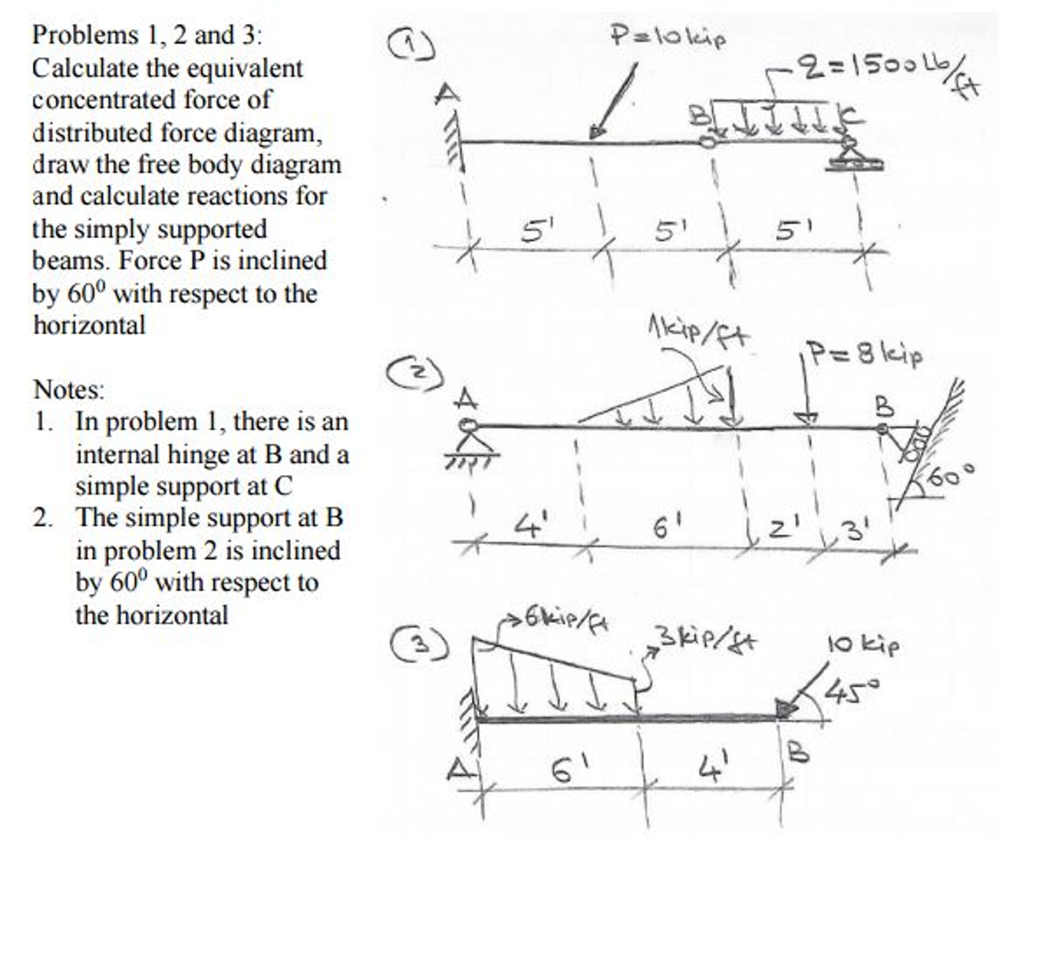 Solved calculate the equivalent concentrated force of dis calculate the equivalent concentrated force of dis ccuart Images