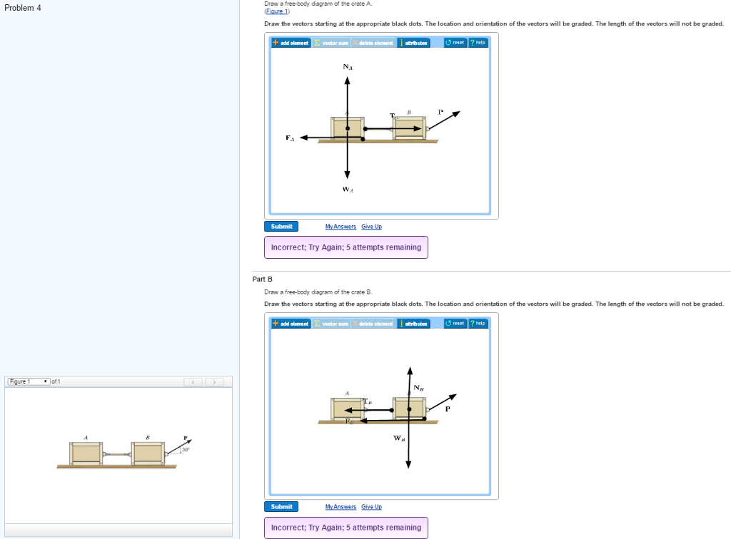 Solved: Draw A Free-body Diagram Of The Crate A. (Figure 1 ...