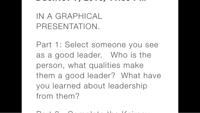 solved select someone you see as a good leader who is th