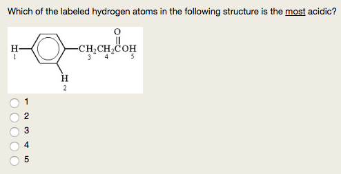 Solved: 1  Which Of The Labeled Hydrogen Atoms In The Foll