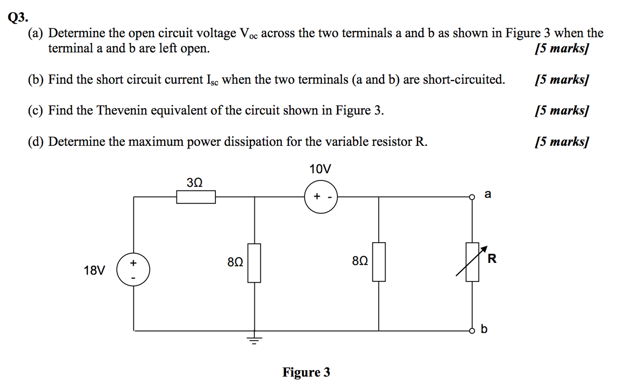 Solved Determine The Open Circuit Voltage V Oc Across Diagram