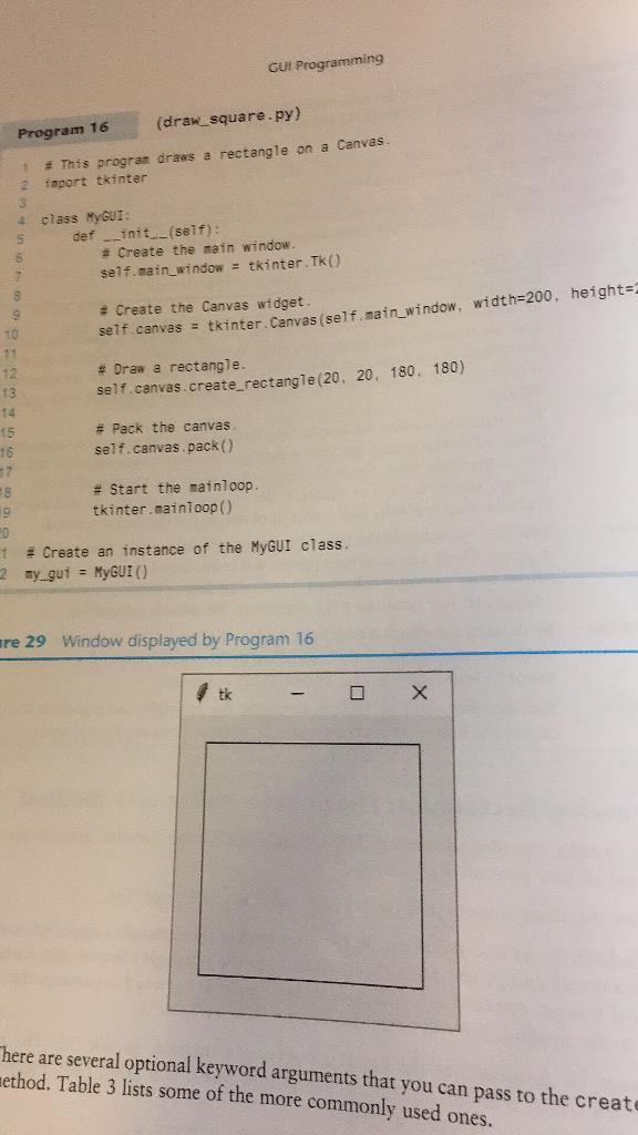 Solved: GUI Programming (draw_square py) Program 16 1 2