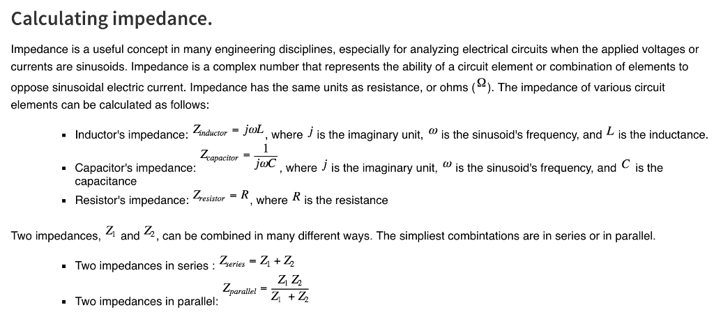 Solved: Matlab Code Please Check If CalculateCombinedImped