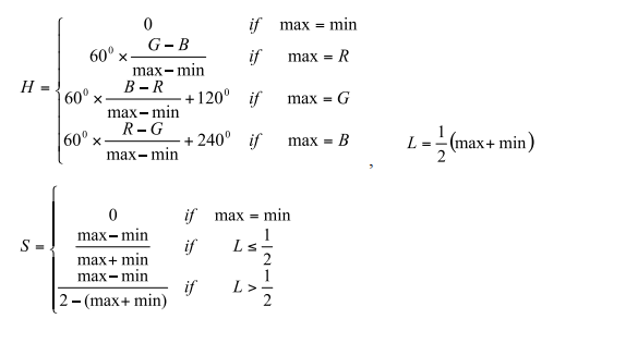 Solved: Given The RGB To HSL Conversion Equations: A) Calc