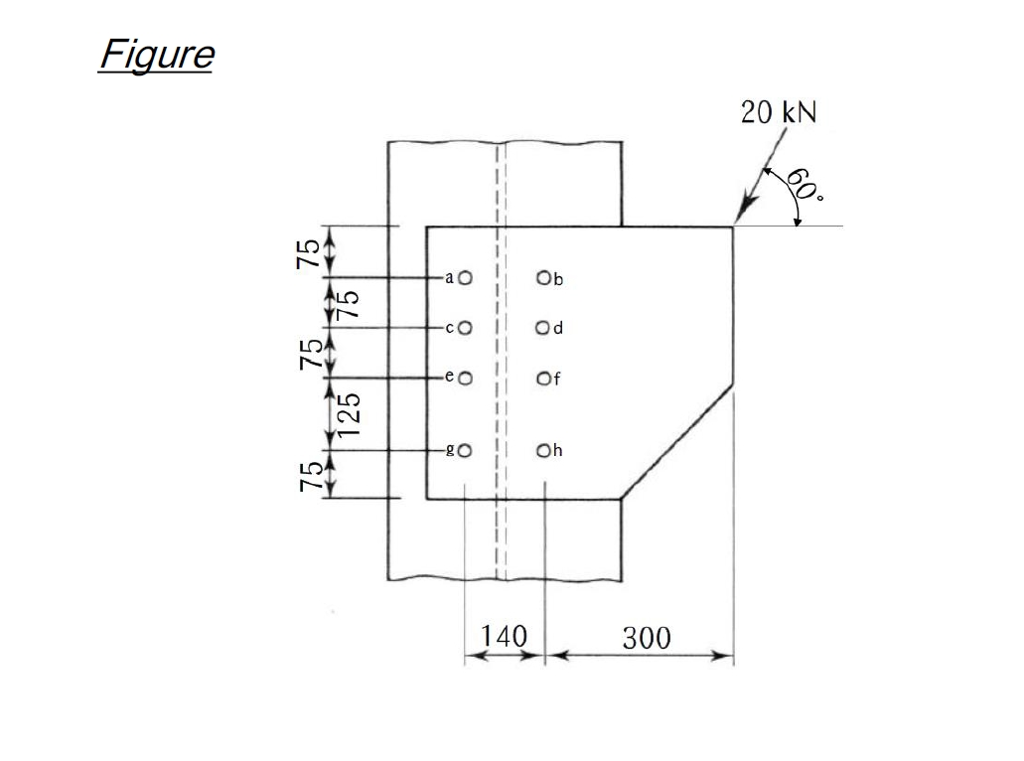 Solved: Figure Shows A Bracket Connection With Single Shea ...