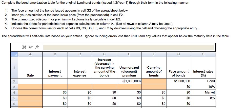 complete the bond amortization table for the origi chegg com