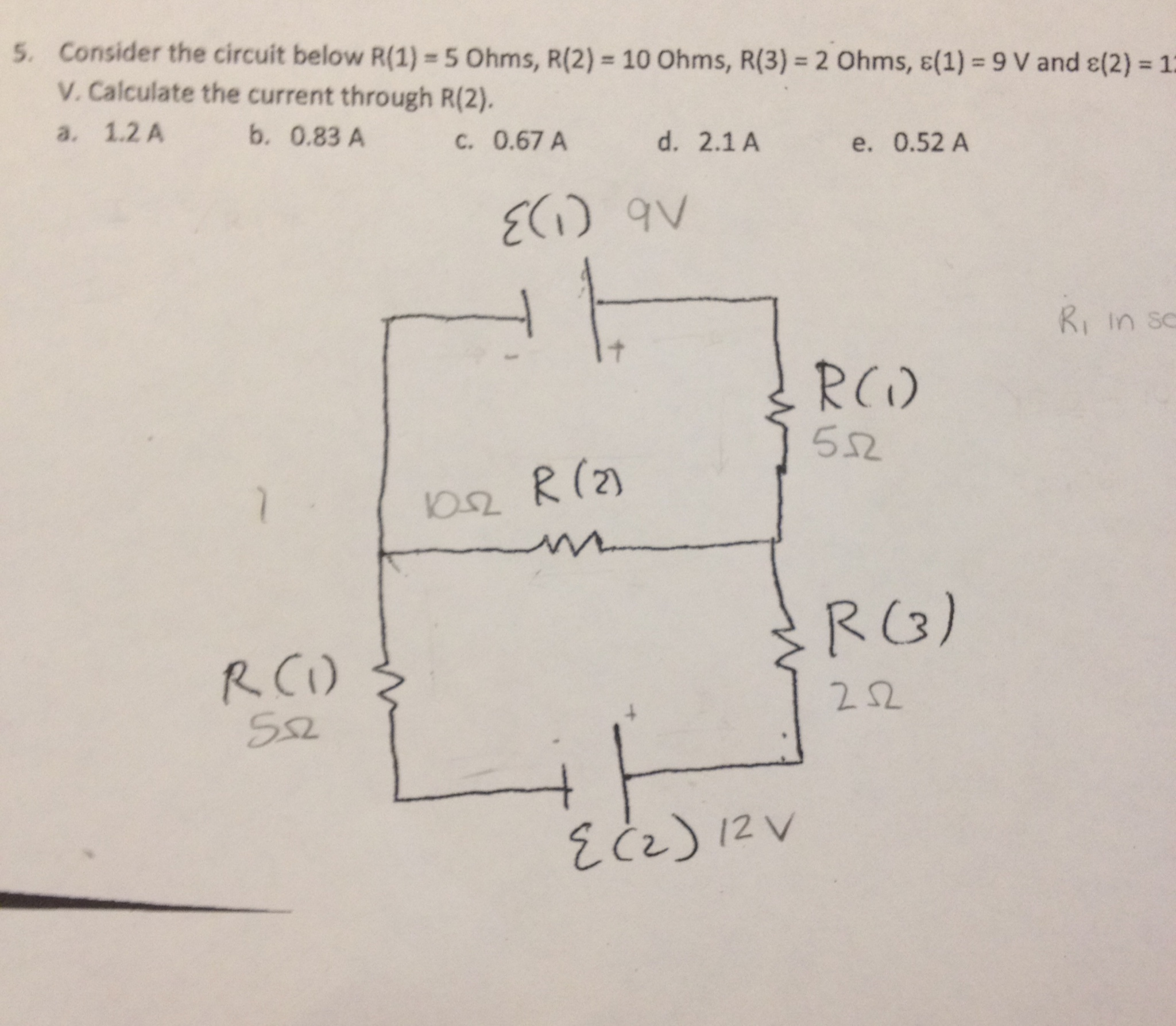 34 Consider The Circuit In The Diagram Below In Which R 10  U03c9