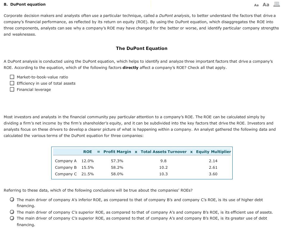 Ziemlich Dupont Analyse Vorlage Bilder - Beispiel Business ...