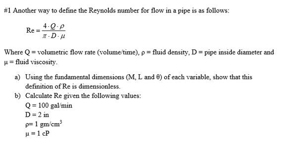 relationship between reynolds number and flow