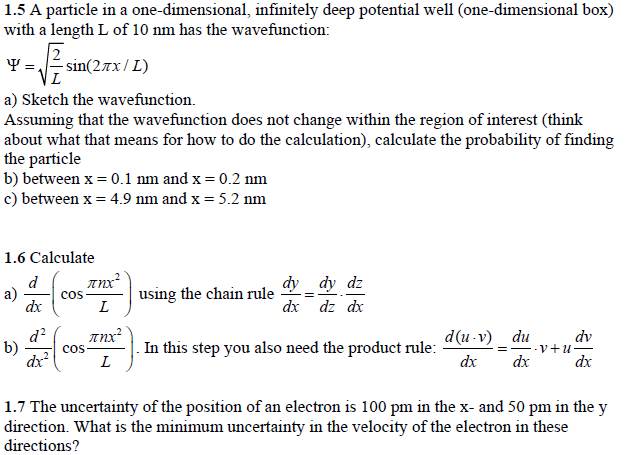 One dimensional box problem algebra