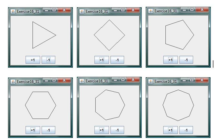 Java Graphics Draw Polygons Applets