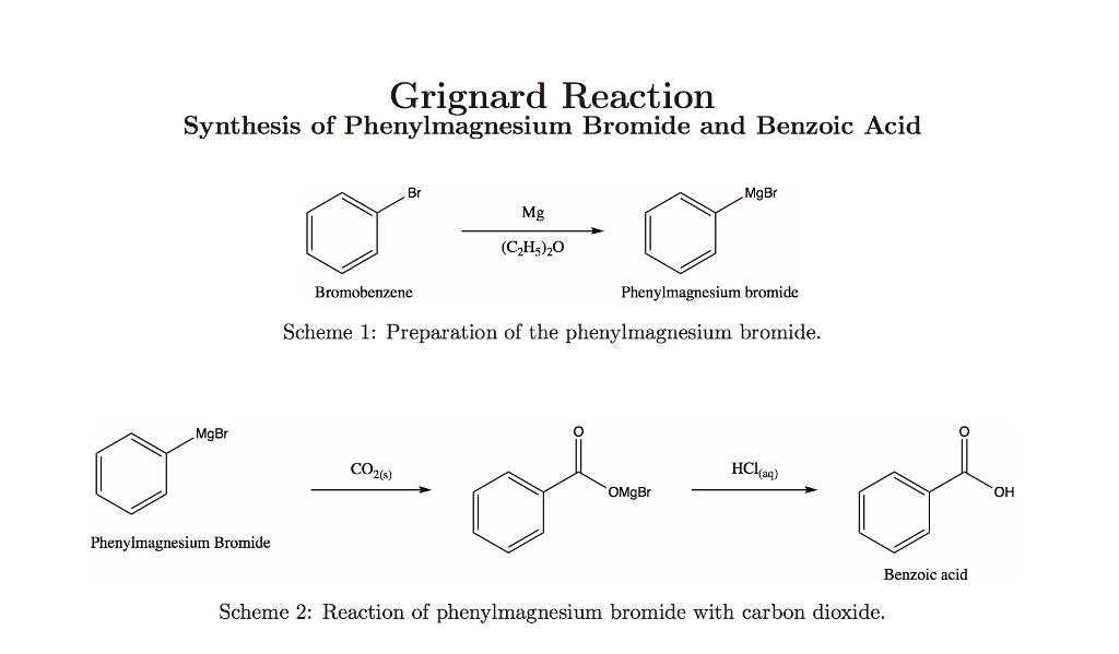 grignard reaction lab report