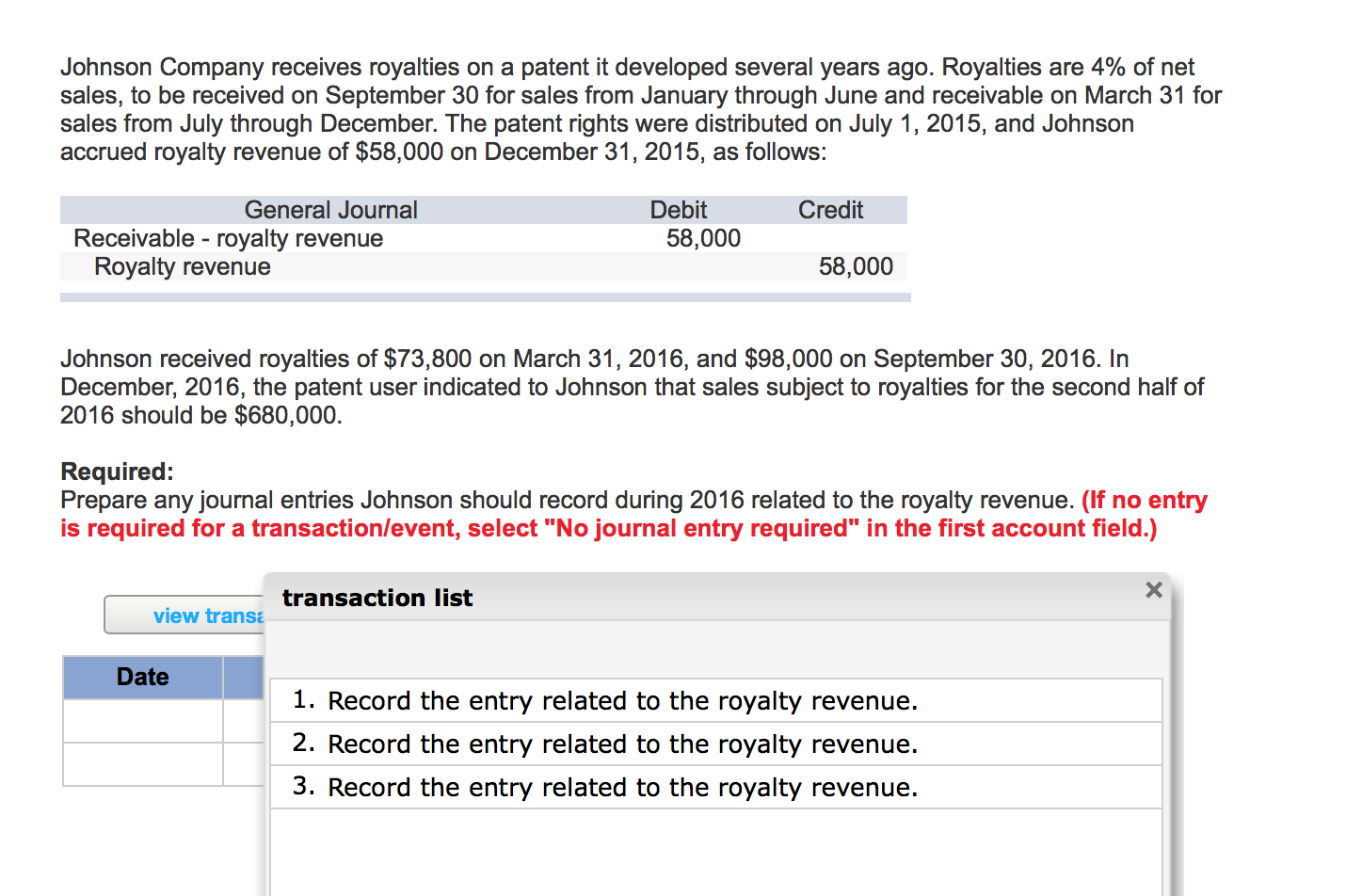 patent royalties Solved: Johnson Company Receives Royalties On A Patent It ...