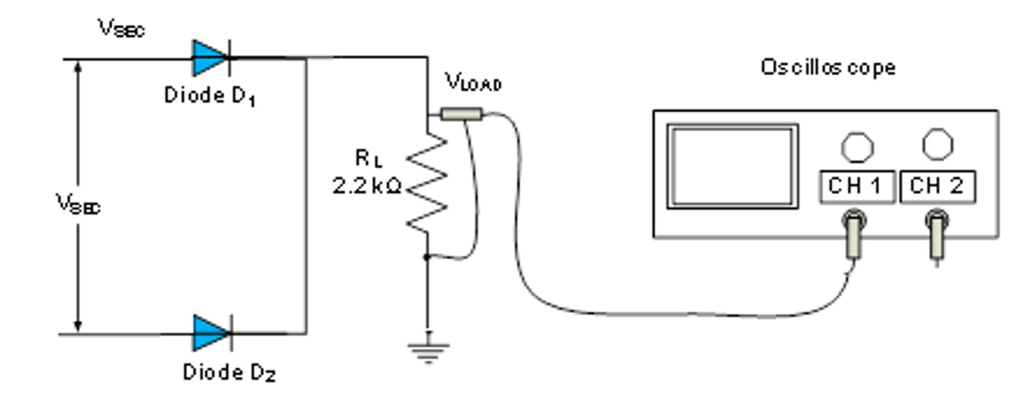 Half Bridge Rectifier Fullwave Circuit Part Full Wave Rectification Software Multisi 2046x798