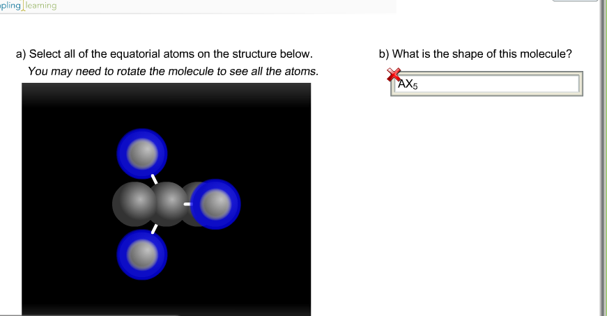 Solved select all of the equatorial atoms on the structur question select all of the equatorial atoms on the structure below you may need to rotate the molecule to ccuart Image collections