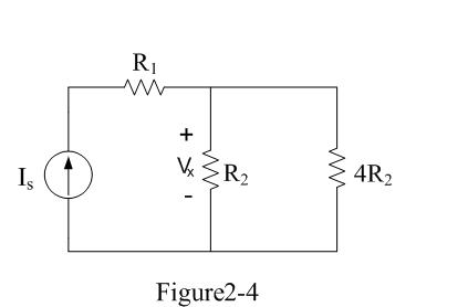 Let Is=6A and R1=10 ? in the circuit of Figure 2-4