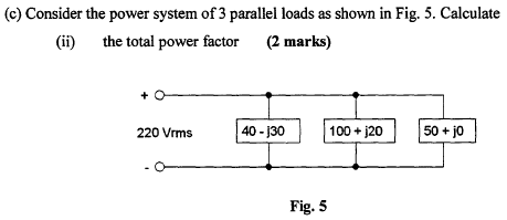 Consider the power system of 3 parallel loads as s