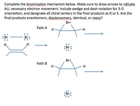 Solved Complete The Bromination Mechanism Below Make Sur