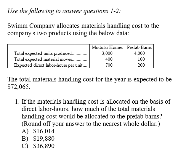 Handling cost special english