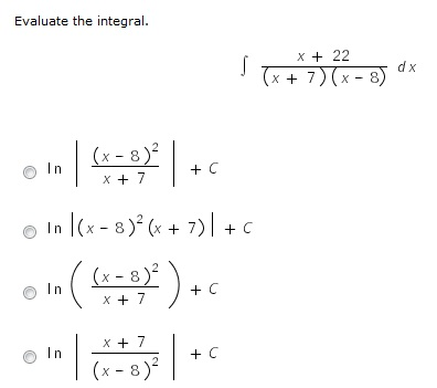 integrals of and ln relationship