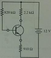 For the circuit shown, find V_BE, I_B, I_C, V_CE,
