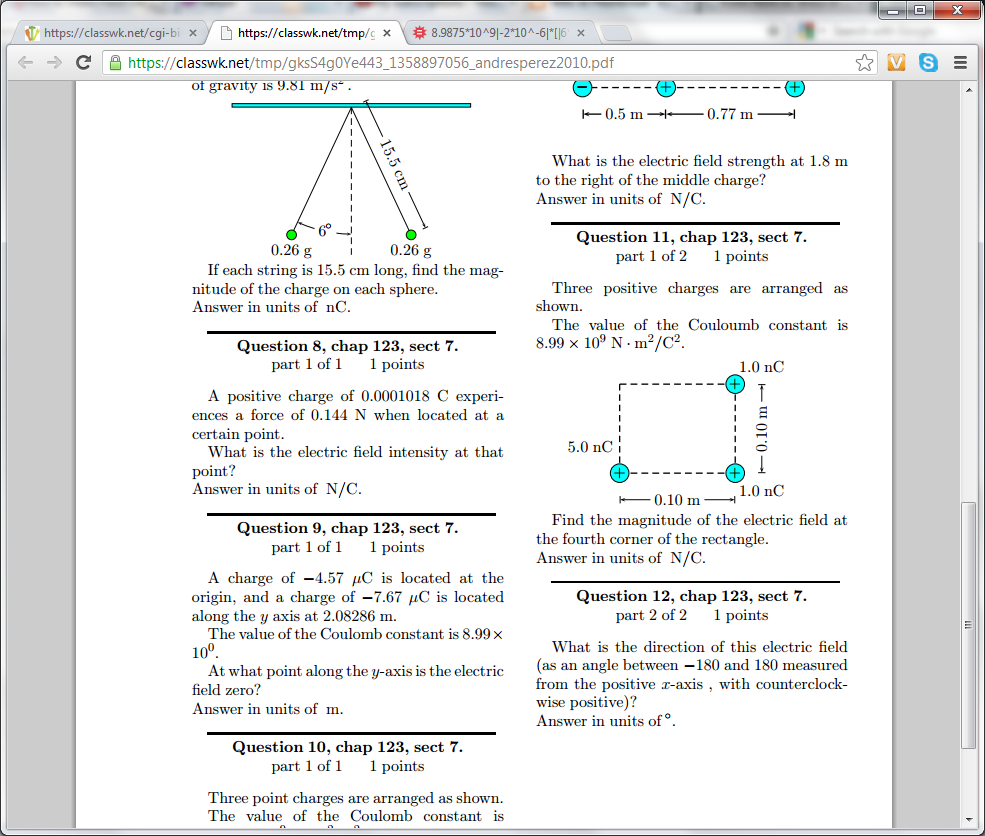 Physics Archive | January 23, 2013 | Chegg.com