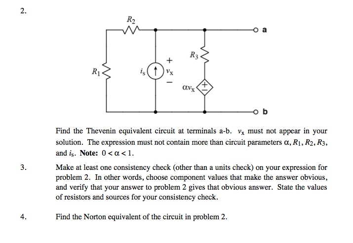 Find the Thevenin equivalent circuit at terminal