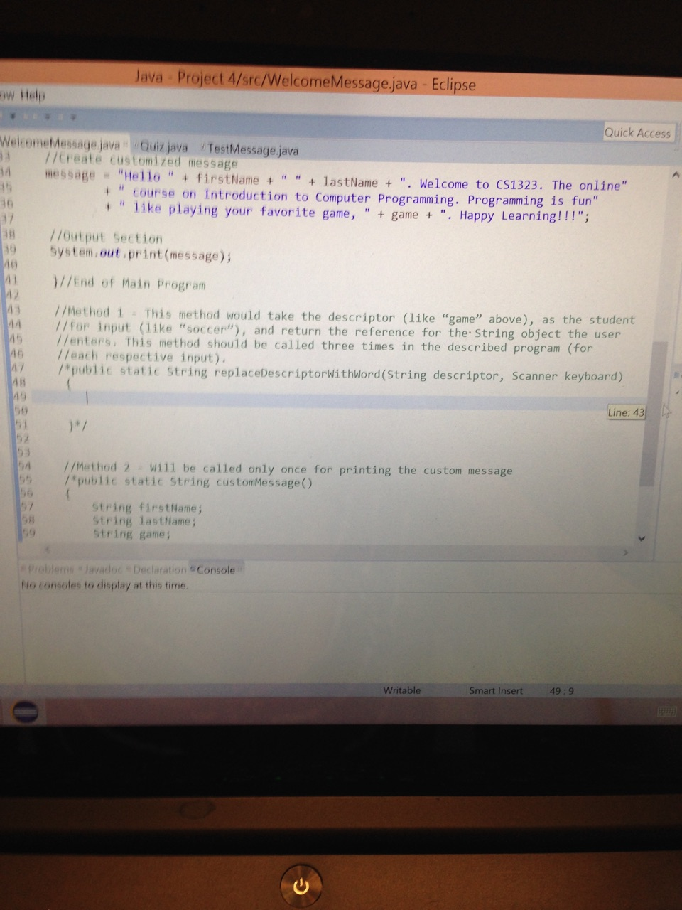 Help with java