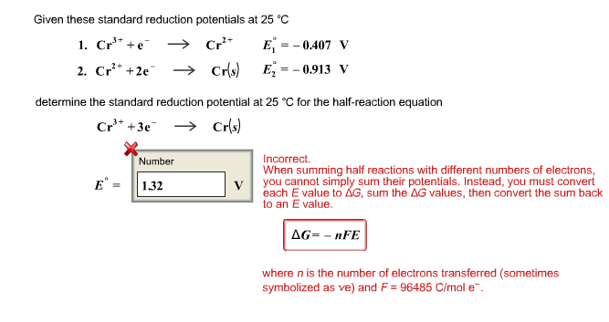 Determination of Standard Reduction Potential of Half-reaction